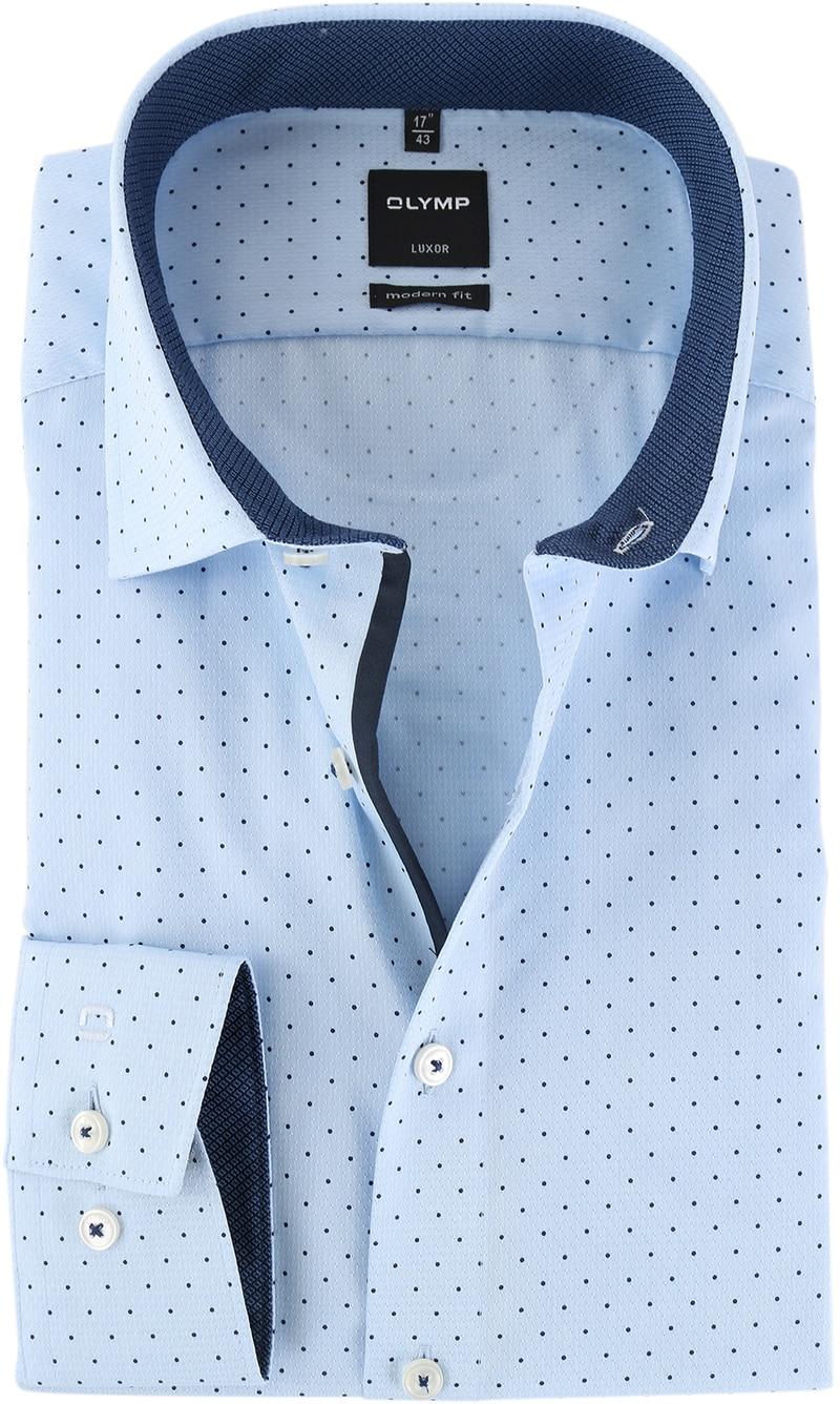 Olymp Strijkvrij Luxor Overhemd Blauw Print  online bestellen | Suitable