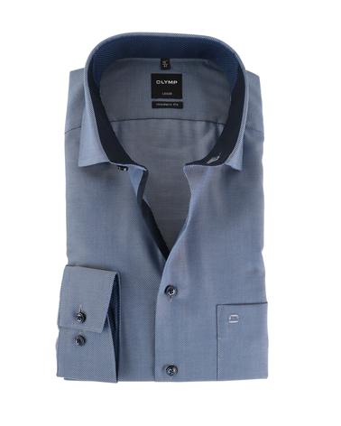 Olymp Strijkvrij Luxor Overhemd Navy  online bestellen | Suitable