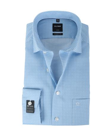 Olymp Strijkvrij Overhemd Modern Fit Blauw Print SL7  online bestellen   Suitable