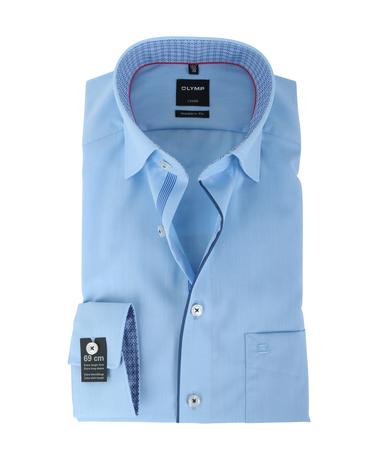 Olymp Strijkvrij Overhemd Modern Fit Blauw SL7  online bestellen | Suitable