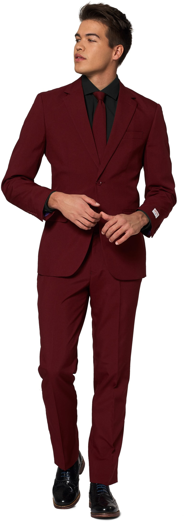OppoSuits Blazing Burgundy Suit photo 0