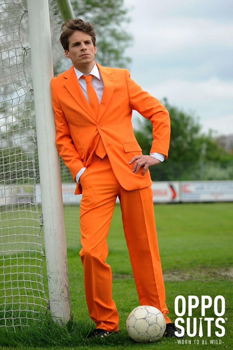 OppoSuits Oranje Kostuum foto 2