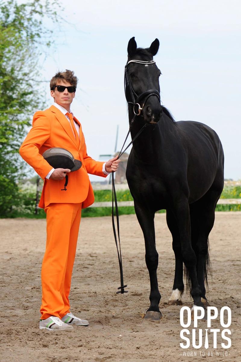 OppoSuits Oranje Kostuum foto 4