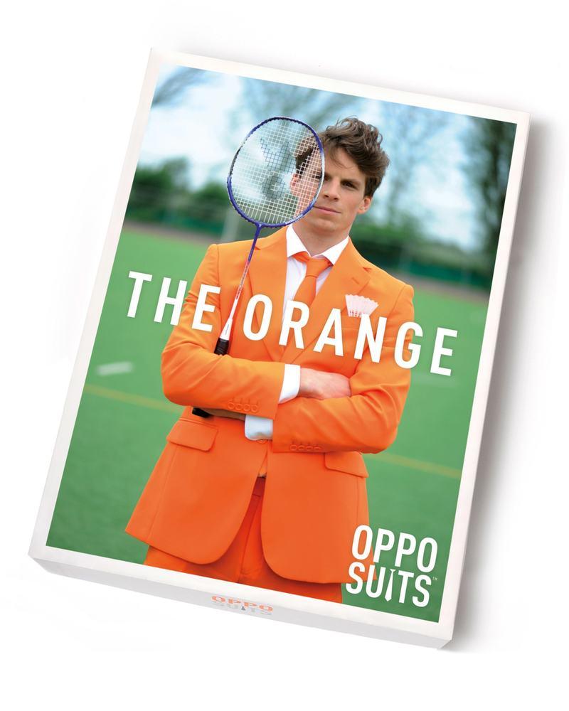 OppoSuits Oranje Kostuum foto 5