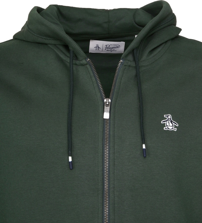 Original Penguin Hooded Vest Groen foto 1