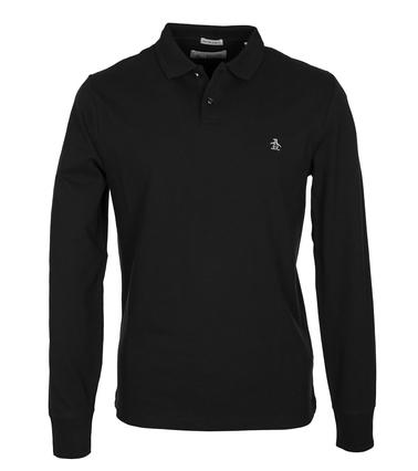 Original Penguin Lange Ärmel Poloshirt Schwarz  online kaufen | Suitable