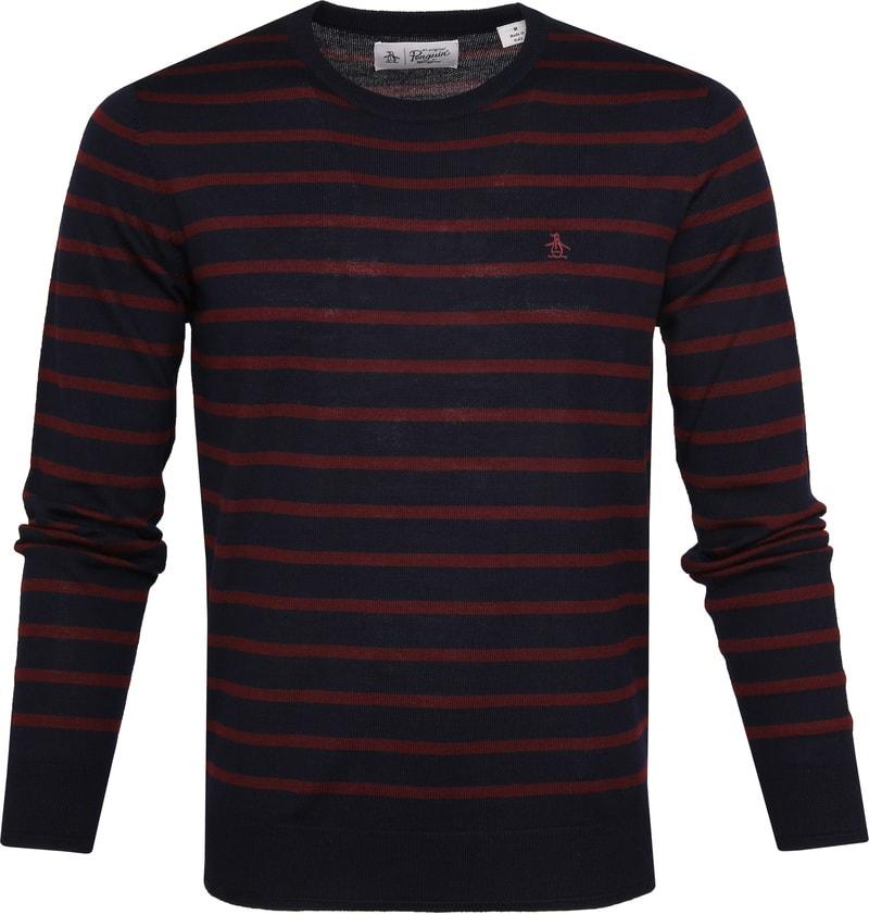 Original Penguin Pullover Merino Wool Navy OPGF9503 413