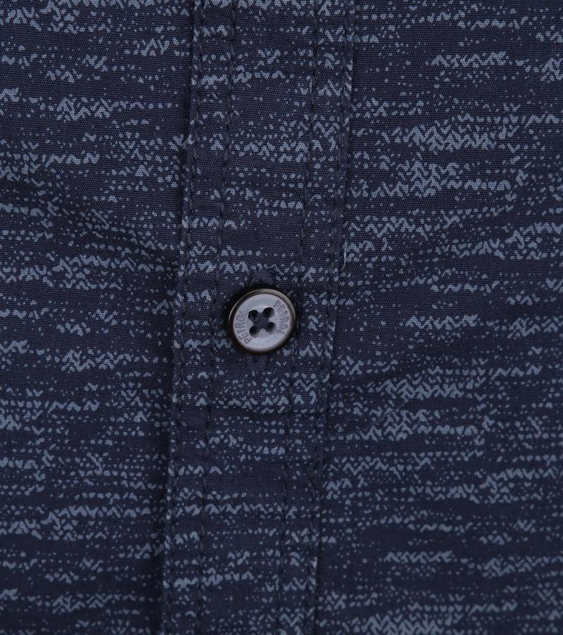 Petrol Overhemd Gemêleerd Donkerblauw foto 2