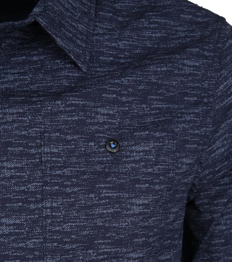 Petrol Overhemd Gemêleerd Donkerblauw foto 3