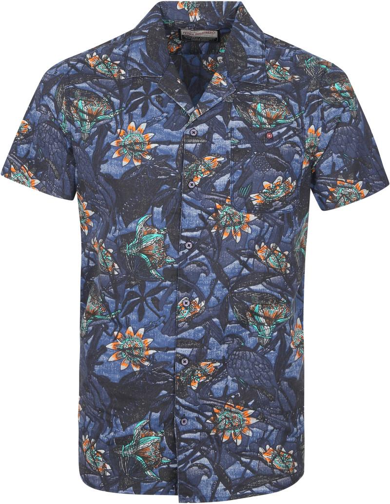 Petrol Overhemd Korte Mouwen Bloemen Multicolour