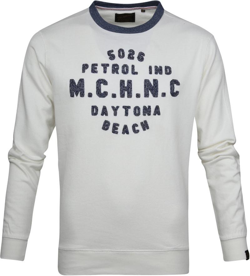Petrol Sweater Weiß Foto 0