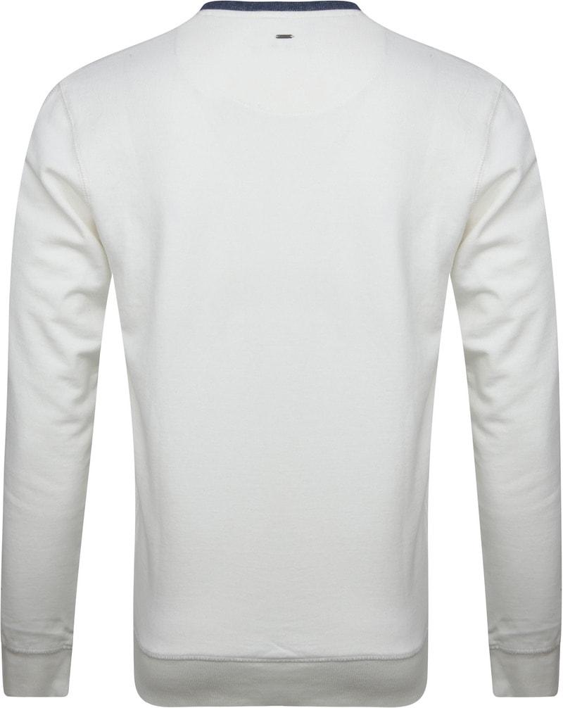 Petrol Sweater Weiß Foto 3