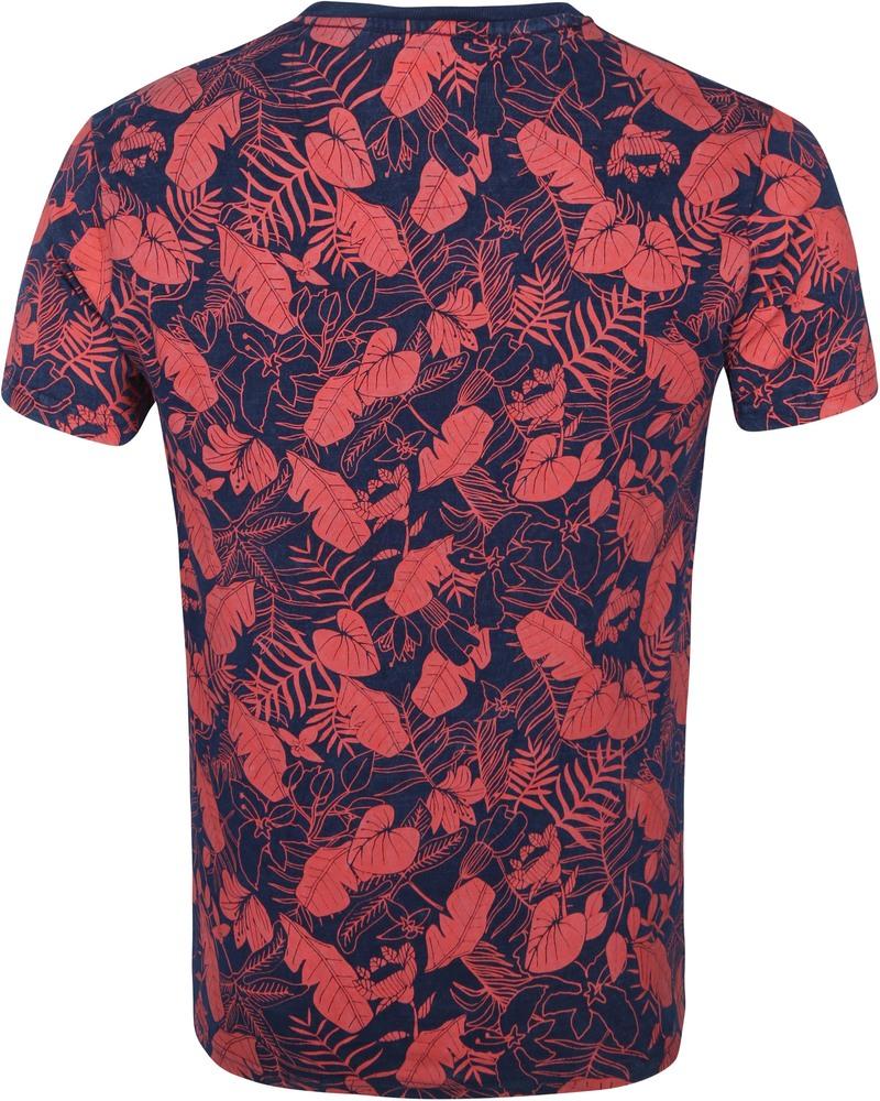 Petrol T-Shirt Bloemen Rood