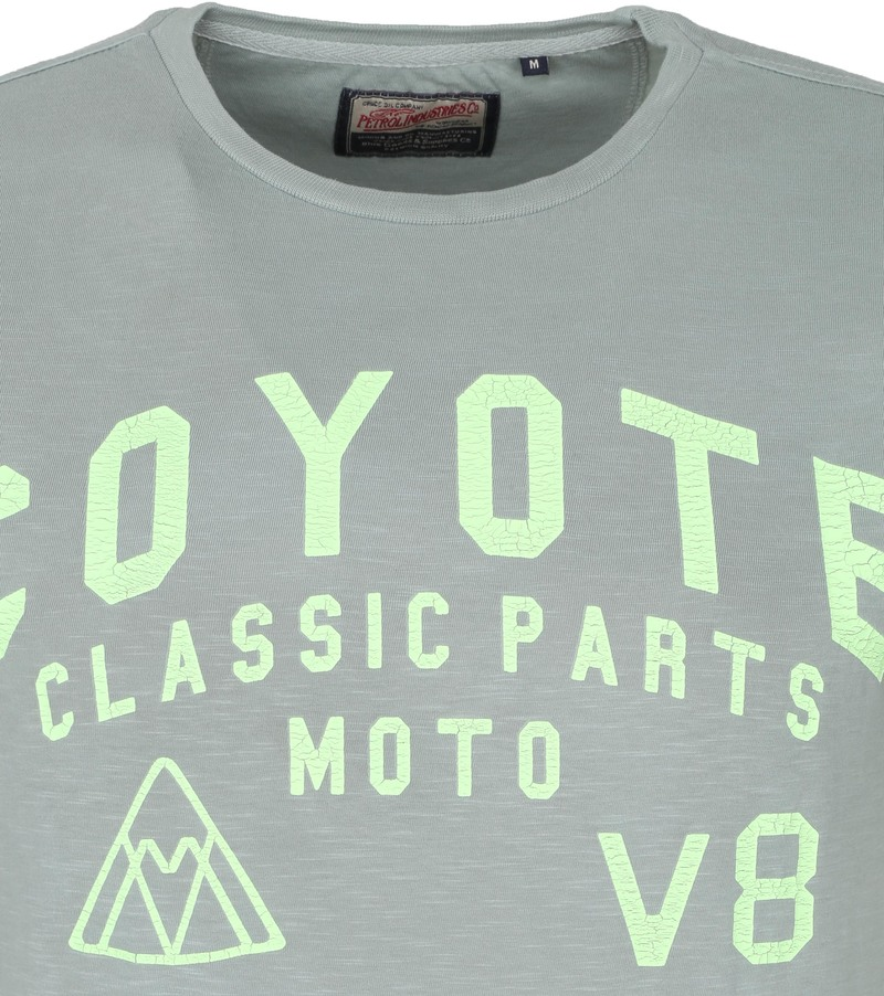 Petrol T-Shirt Coyote Groen - Groen maat M