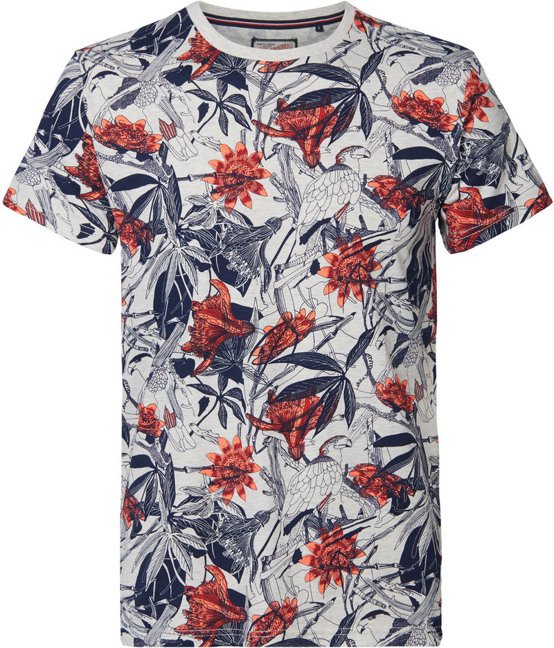 Petrol T-Shirt Nature Rood