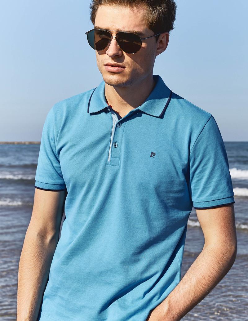 Pierre Cardin Poloshirt Diving Blue Foto 4