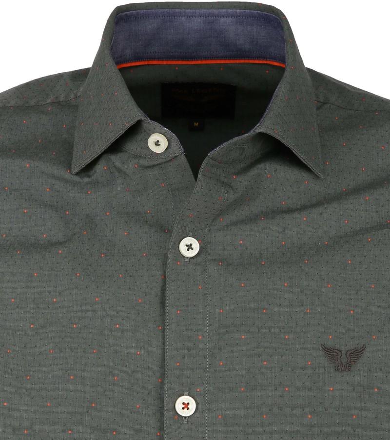 PME Legend Dobby Overhemd Dessin Groen foto 1