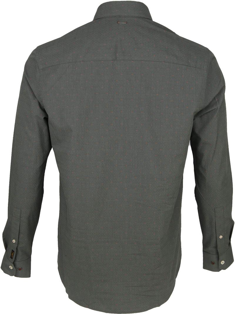 PME Legend Dobby Overhemd Dessin Groen foto 4