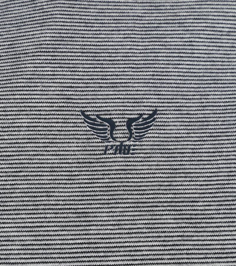 PME Legend Long Sleeve Polo Strepen Donkerblauw