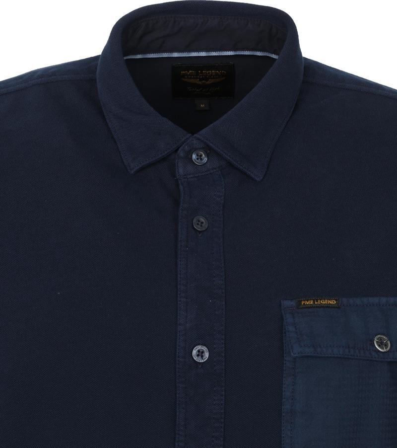 PME Legend Overhemd Garment Dye Donkerblauw