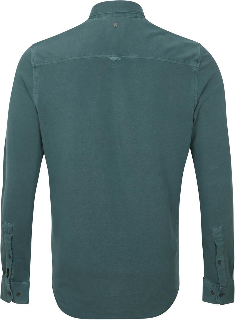 PME Legend Overhemd Garment Dye Donkergroen