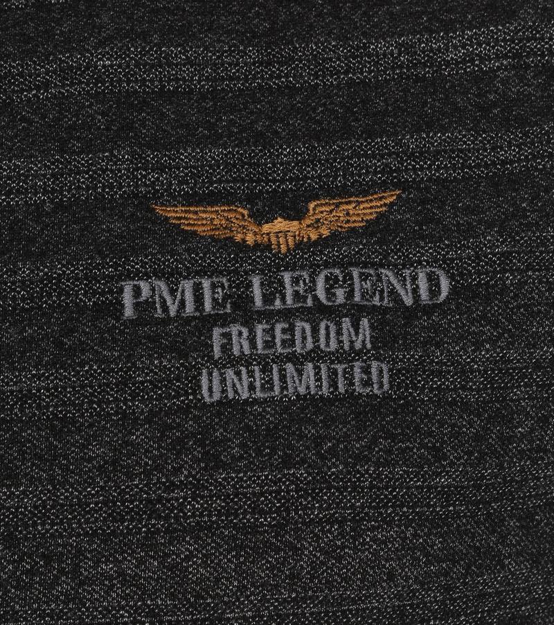 PME Legend Polo Strepen Antraciet