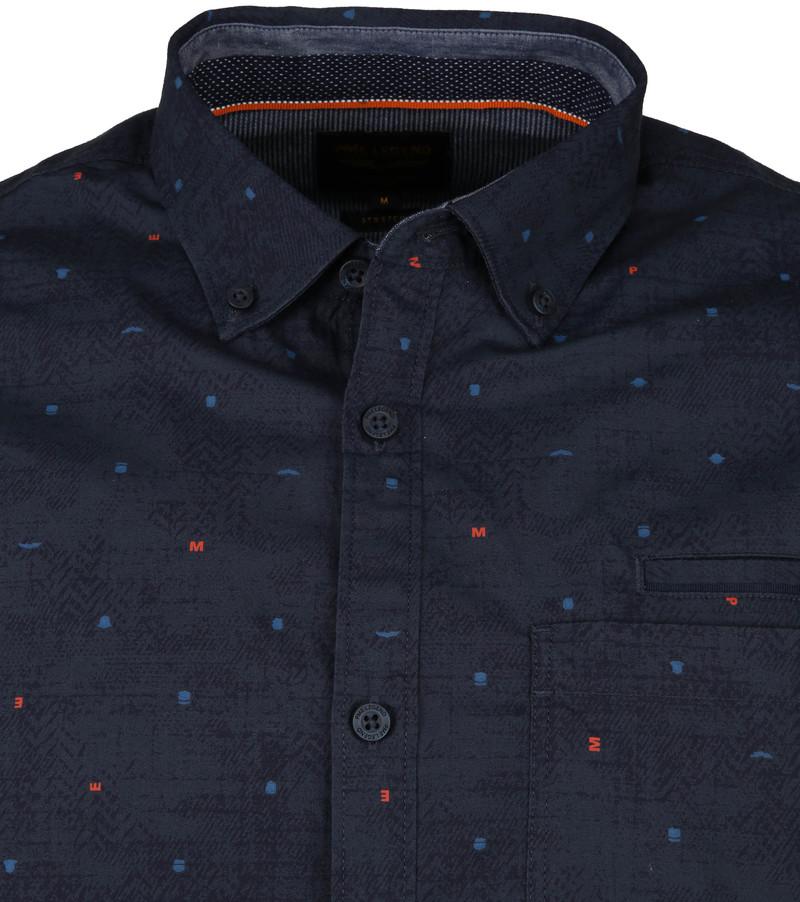 PME Legend Poplin Overhemd Letters Navy foto 1