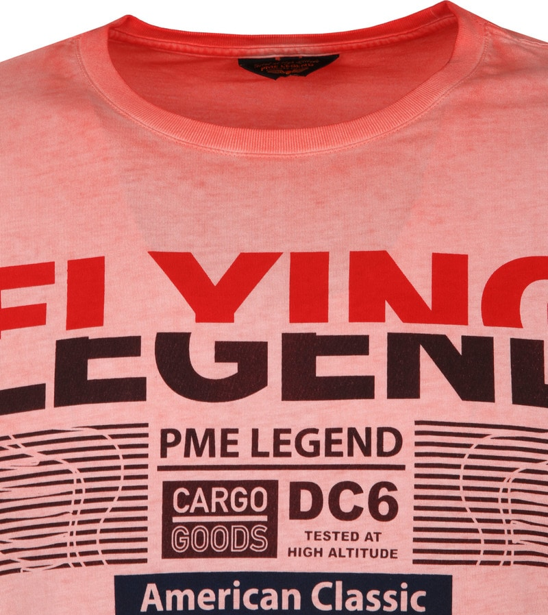 PME Legend T-Shirt Print Rood foto 1