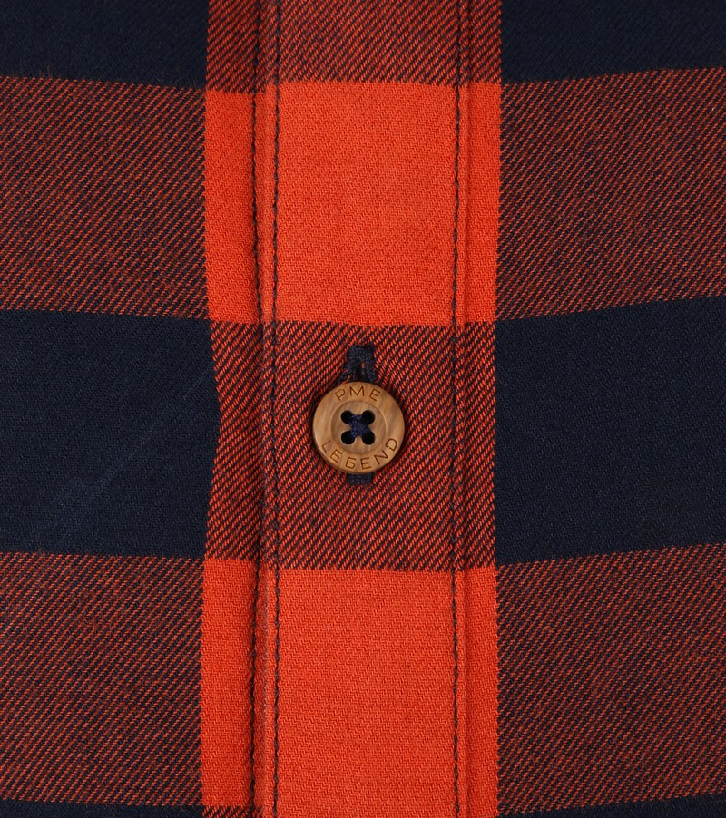 PME Legend Twill Check Overhemd Ruit Rood foto 2