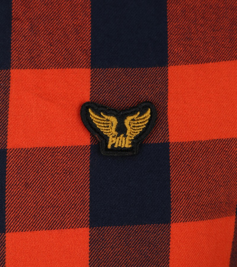 PME Legend Twill Check Overhemd Ruit Rood foto 3