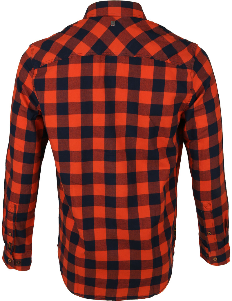 PME Legend Twill Check Overhemd Ruit Rood foto 4