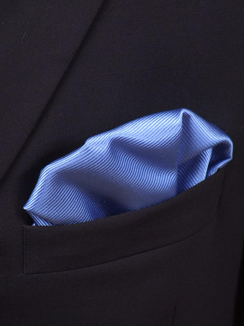 Pochet Zijde Midden Blauw F05 foto 1