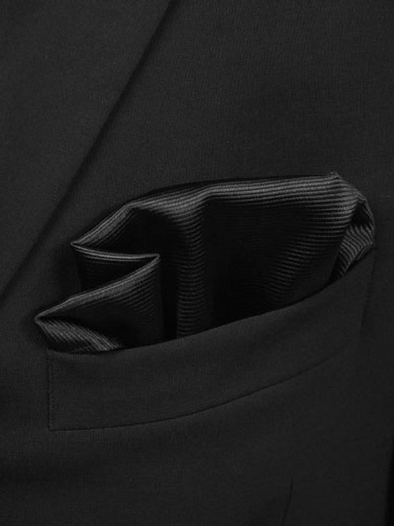 Pocket Square Black F08