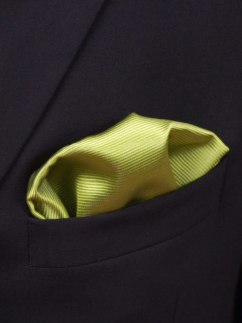 Pocket Square Lime Green F04 photo 1