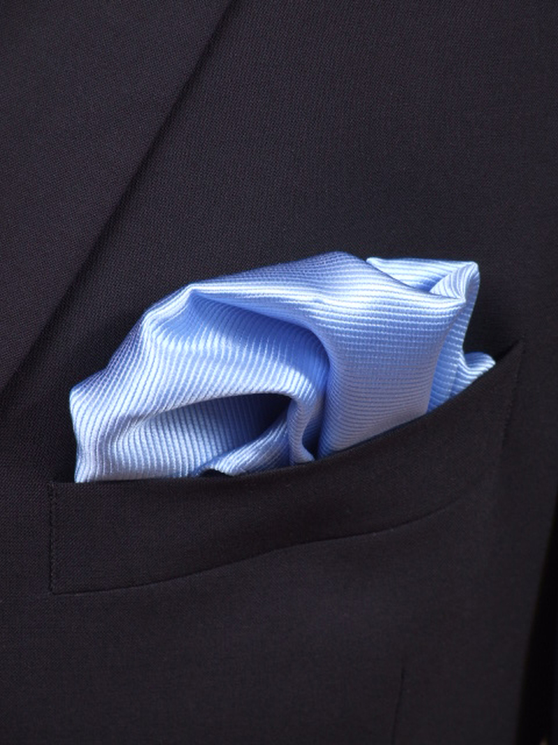 Pocket Square Silk Blue F02 photo 1