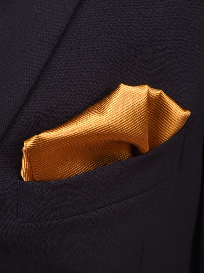 Pocket Square Silk Gold F13 photo 1