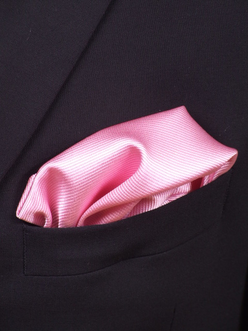 Pocket Square Silk Pink F03 photo 1