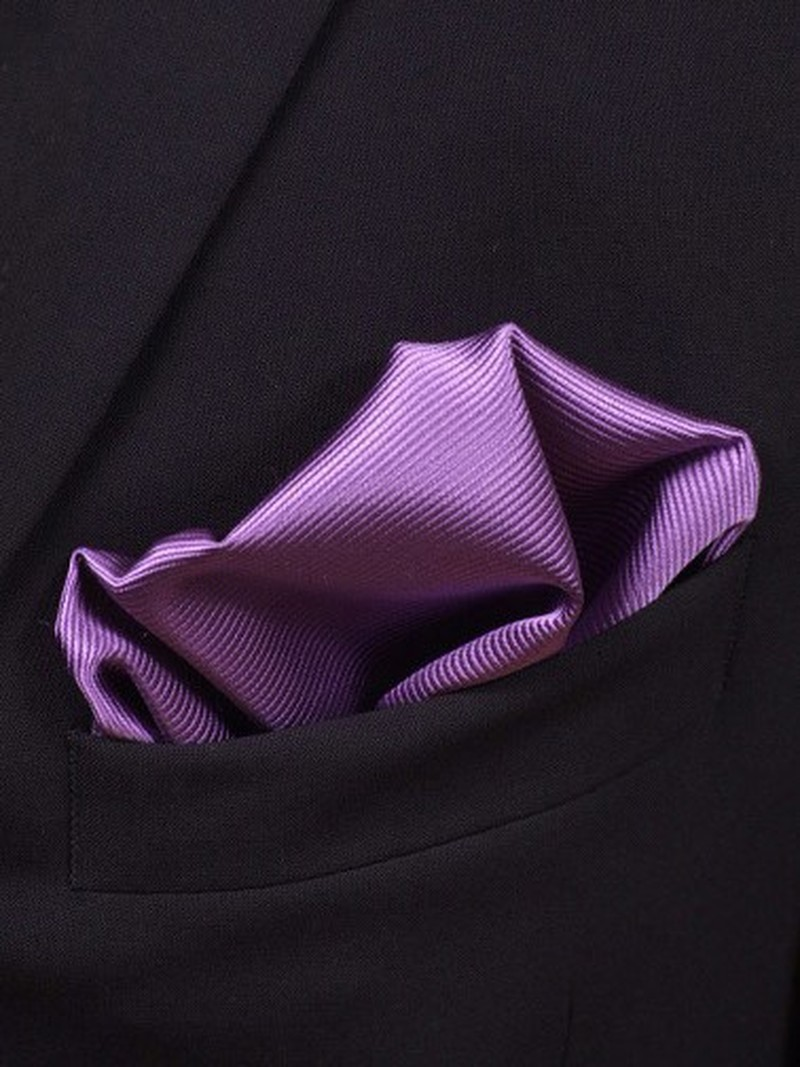 Pocket Square Silk Purple F30 photo 1