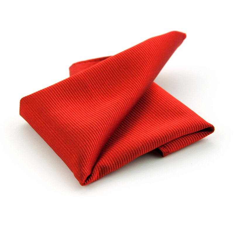 Pocket Square Silk Red F34 photo 0