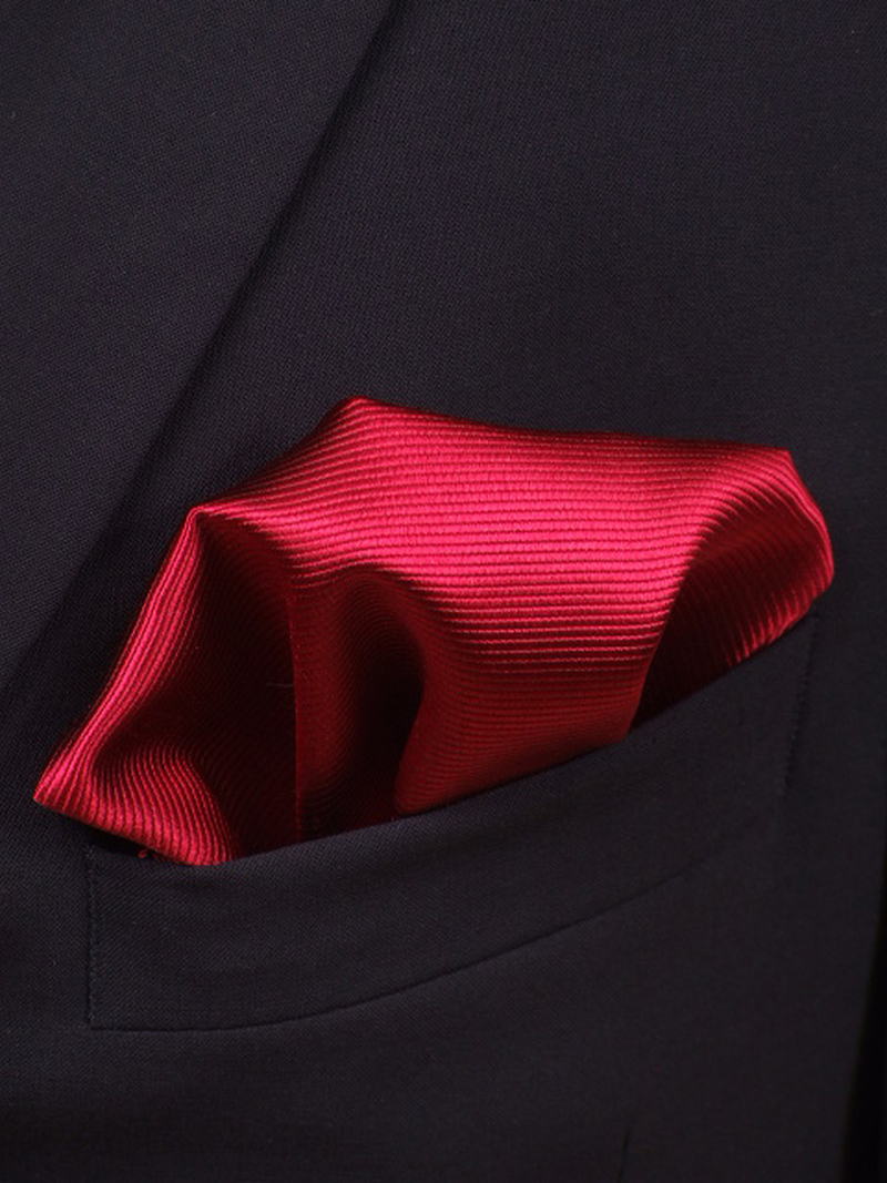Pocket Square Silk Red F34 photo 1