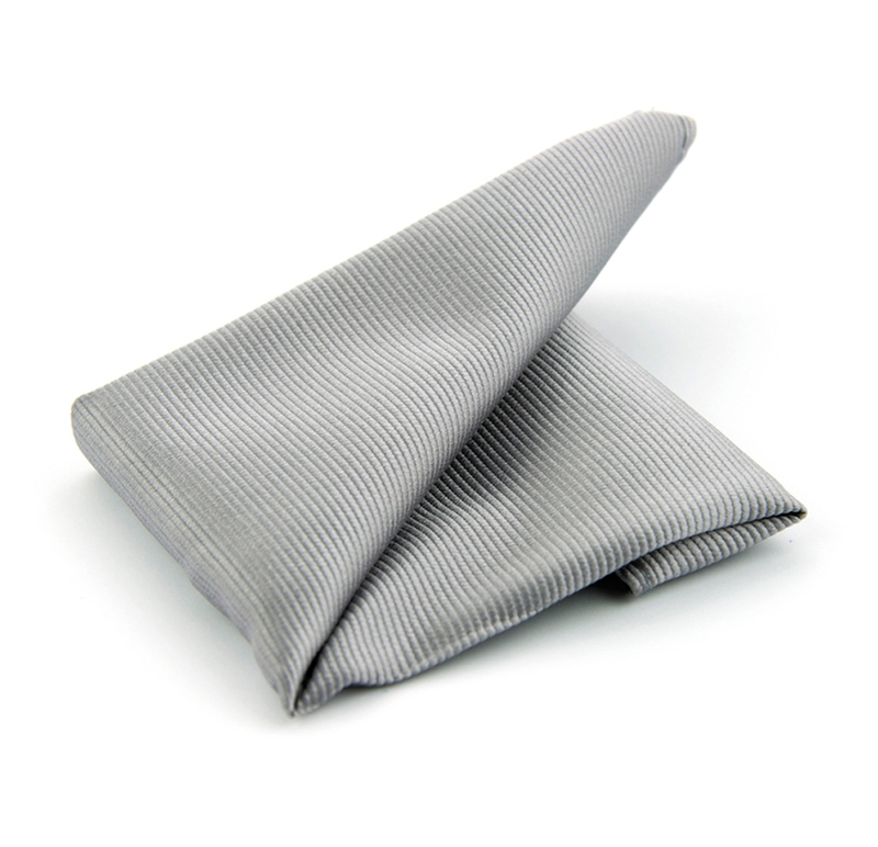 Pocket Square Silk Silver F48 photo 0