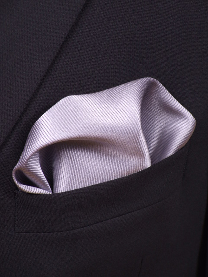 Pocket Square Silk Silver F48 photo 1