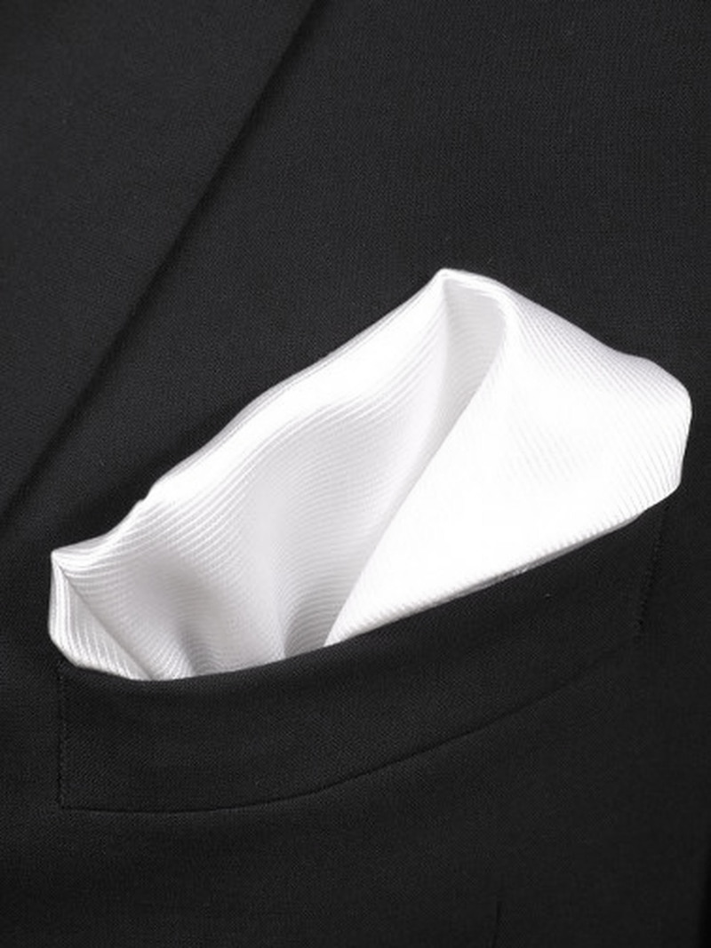 Pocket Square Silk White F27 photo 1