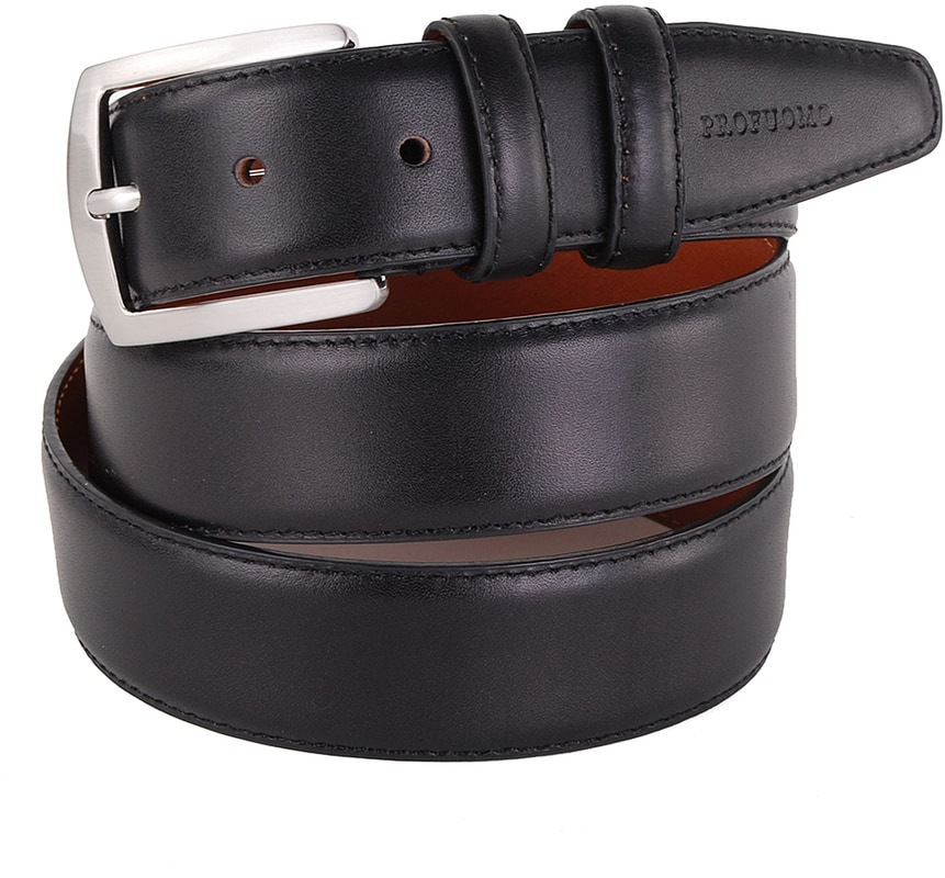Profuomo Belt Leather Black photo 0