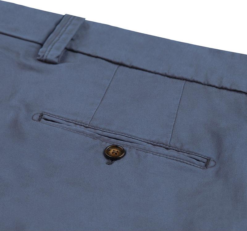 Profuomo Chino Garment DYE Blauw foto 2