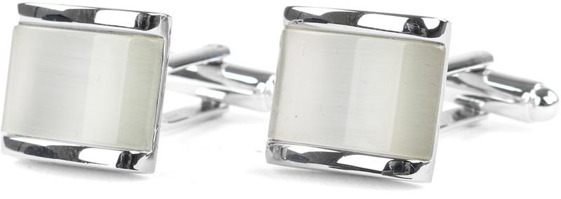 Profuomo Cufflinks Silver White photo 0