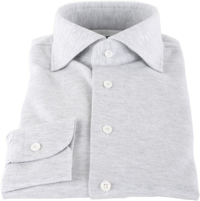 Profuomo Hemd Knitted Slim Fit Grau Foto 2