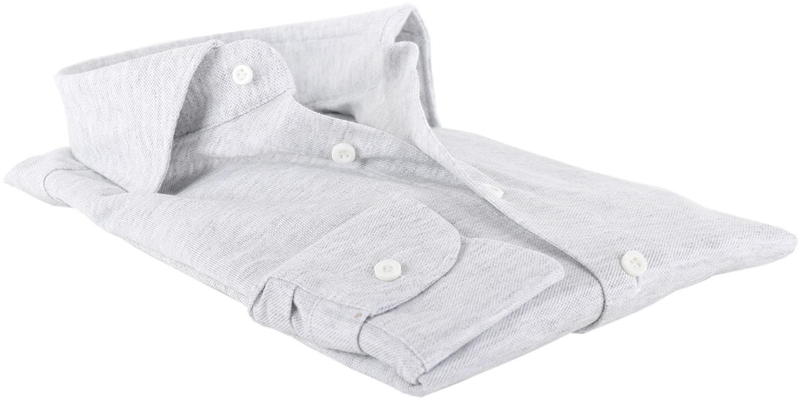 Profuomo Hemd Knitted Slim Fit Grau Foto 3