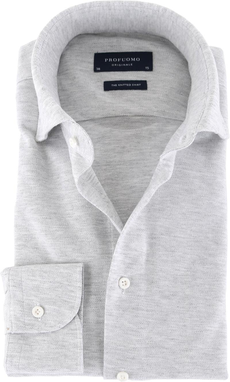 Profuomo Hemd Knitted Slim Fit Grau Foto 0