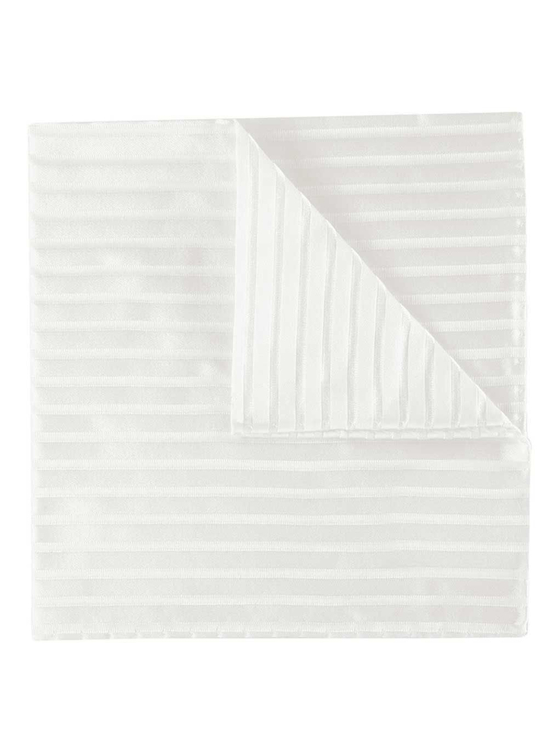 Profuomo Hochzeit Taschentuch Off White Streifen